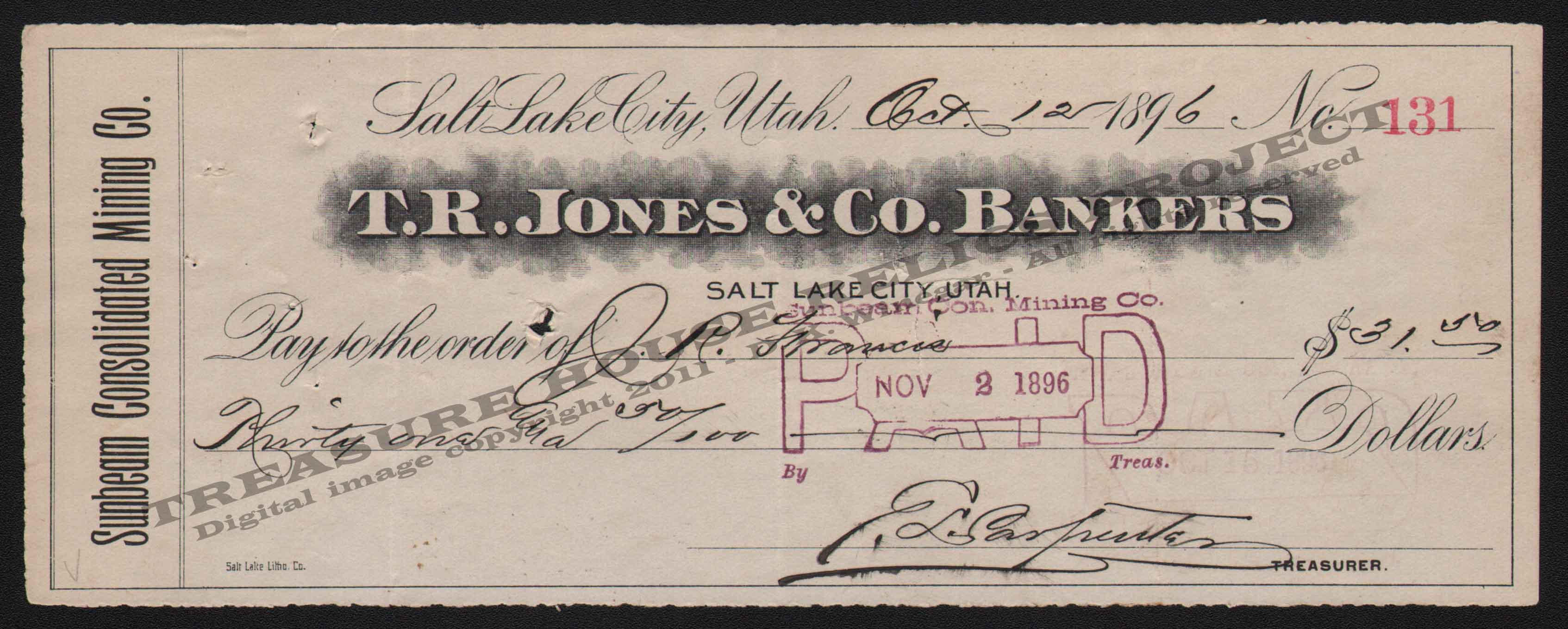CHECK_-_SUNBEAM_MINING_CO_T_R_JONES_BANKERS_131_1896_400_EMBOSS.jpg