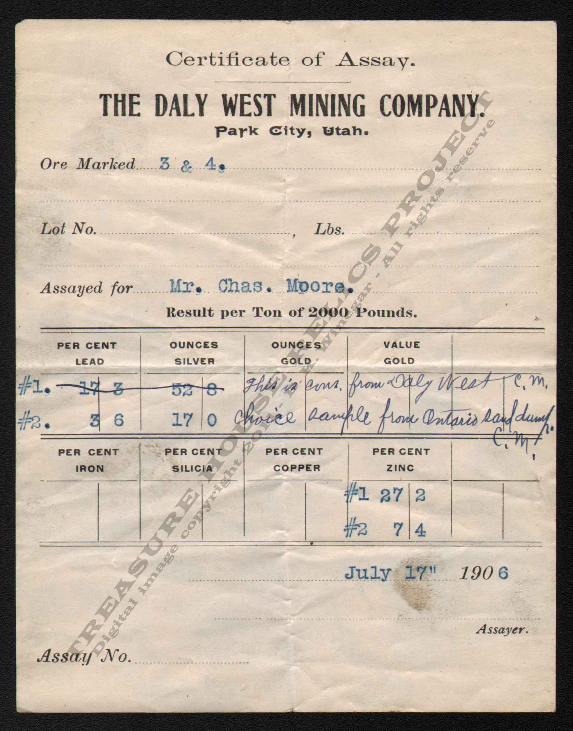 LETTERHEAD/ASSAY_DALY_WEST_MINING_CO_7_23_1906_KIRK_400_CROP_EMBOSS.jpg
