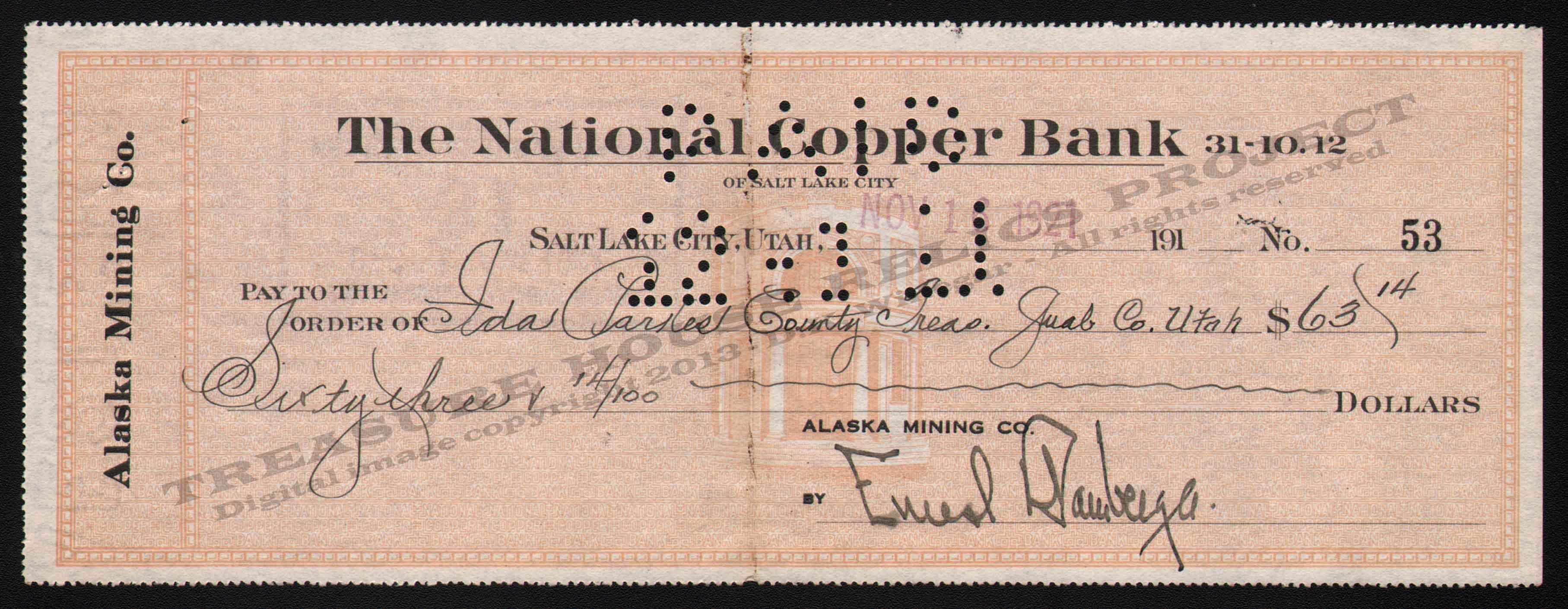 LETTERHEAD/CHECK_INTERNATIONAL_EXPLORATION_CO_SLC_28_10_8_1915_BAM_31_400_CROP_EMBOSS.jpg