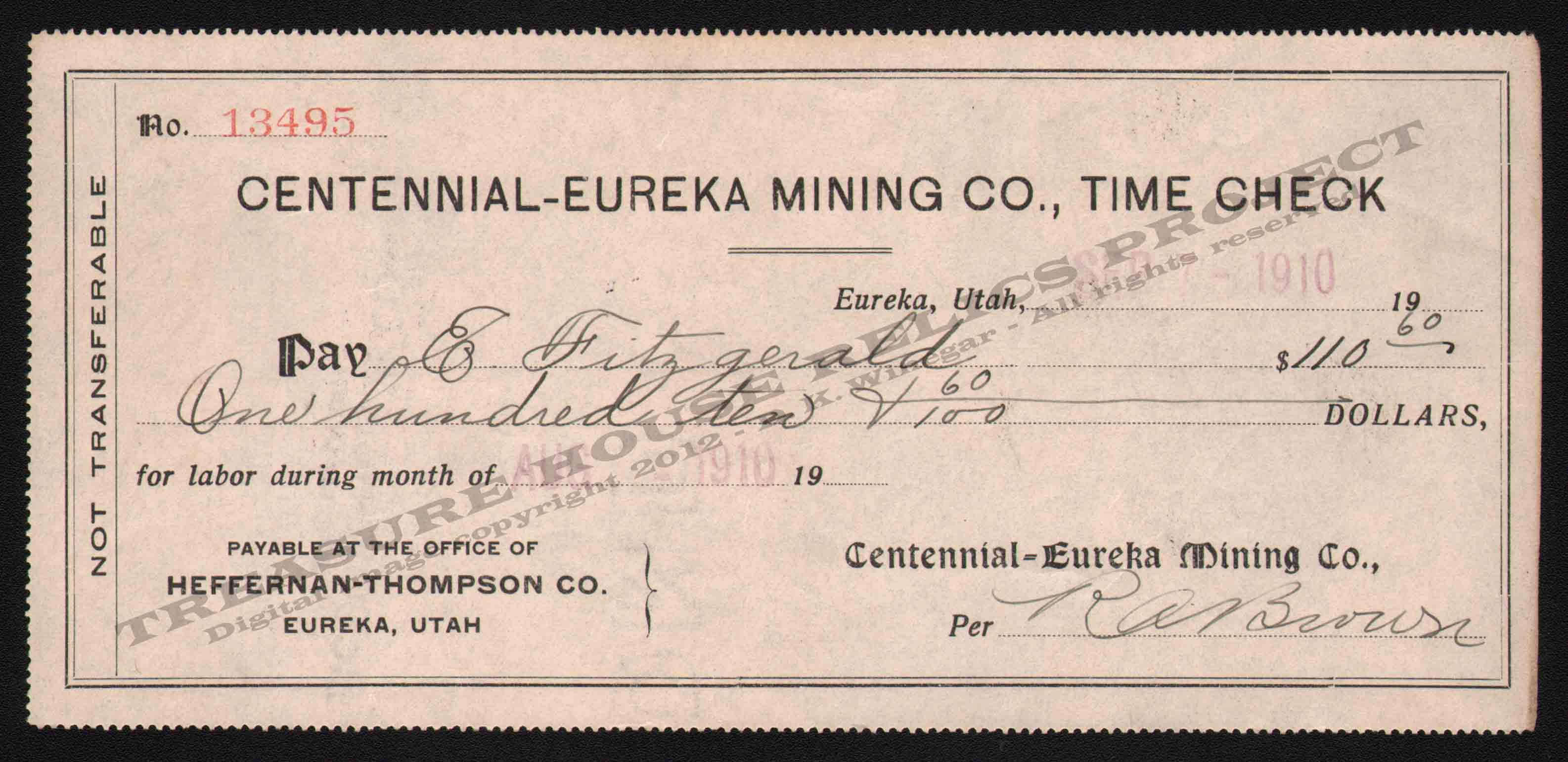 LETTERHEAD/CHECK_CENTENNIAL_EUREKA_MINING_CO_TIME_CHECK_18495_1910_GP_400_CROP_EMBOSS.jpg