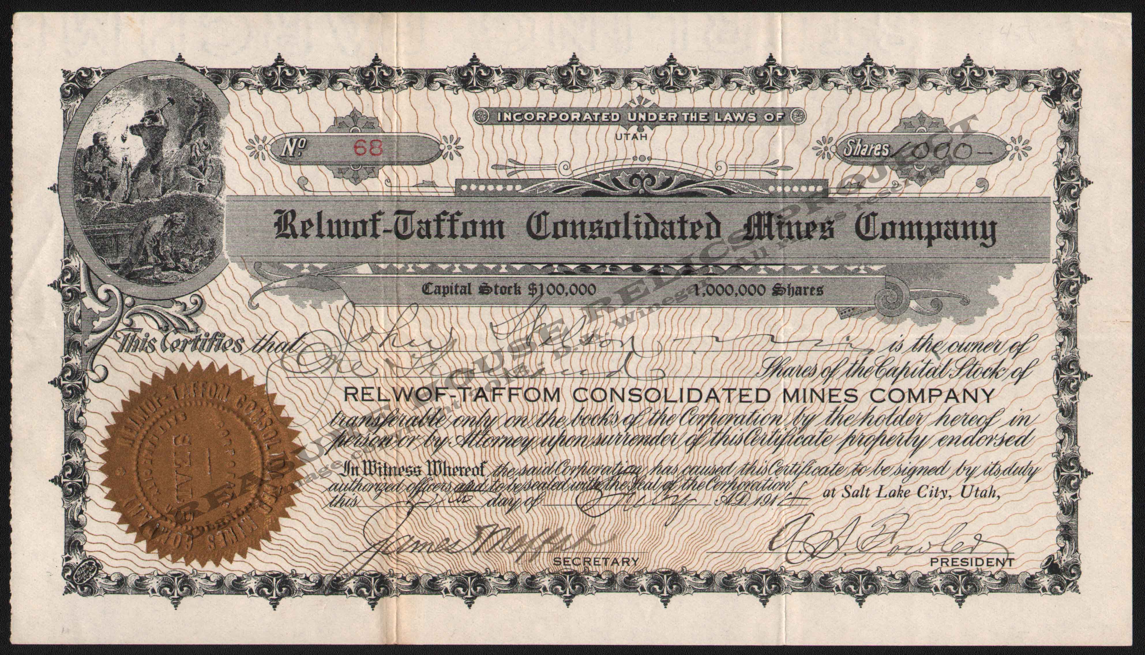 LETTERHEAD/RELWOF_TAFFOM_CONSOLIDATED_MINES_COMPANY_68_1917_SILVER_ISLAND_KIRK_400_CROP_EMBOSS.jpg
