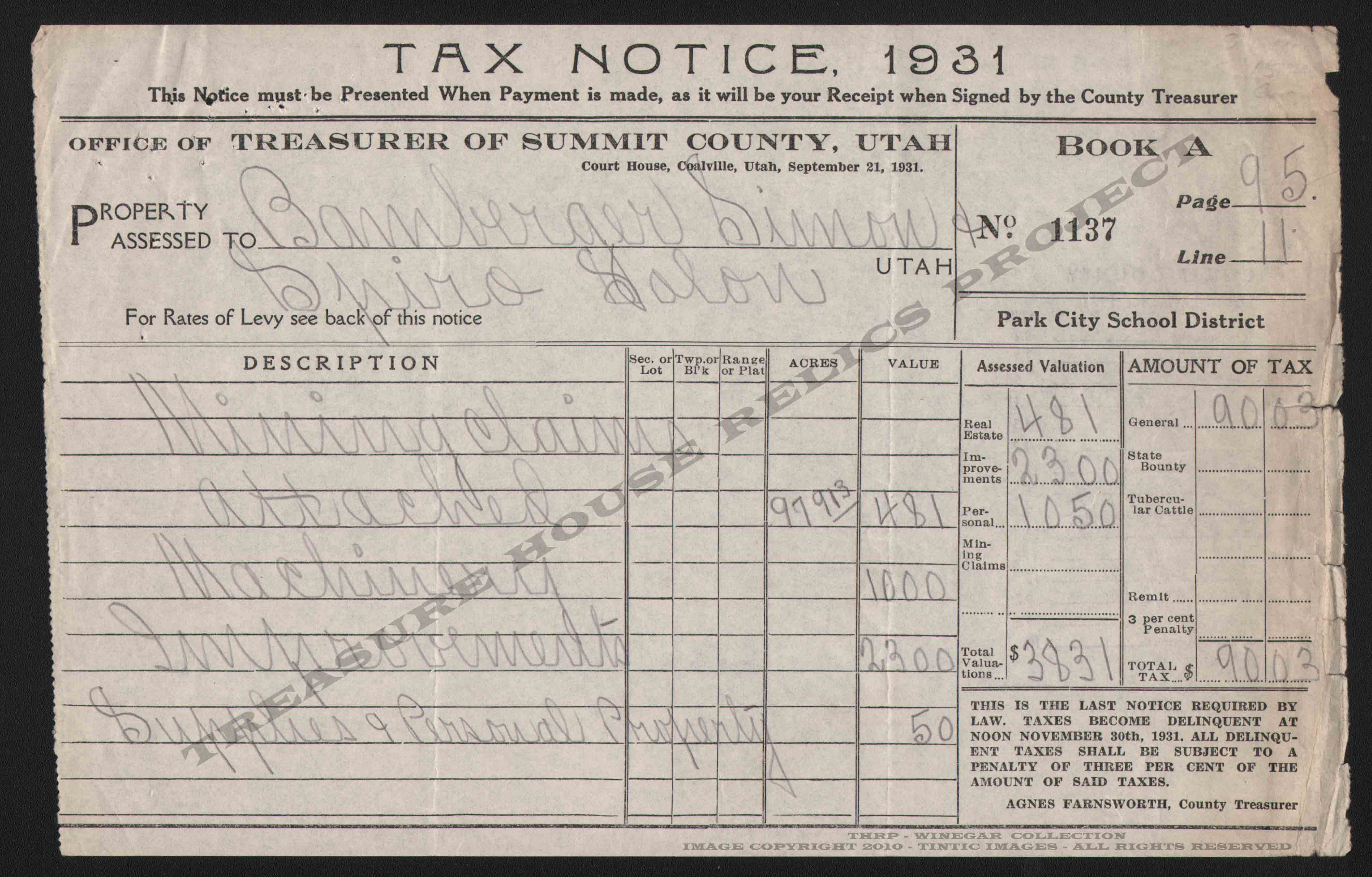 NEW_QUINCY_MINING_CO_TAX_NOTICE_FOR_1931_400_Inv_EMBOSS.jpg